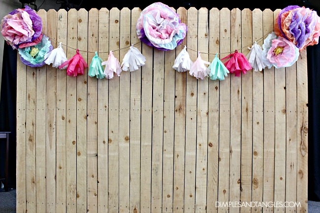 photo background, party pics, fence panel, event decorations, banquet decorations, church banquet decorations