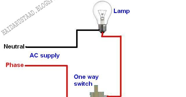 controlling+one+lamp+by+one+way+switch+(by+Haidarustaad)  Way Circuit Wiring Lamp on 3 way circuit diagram, 3 way outlets, 3 way lighting, 3 way injector, 3 way electrical circuit, 3 way connectors, 3 way breakers,