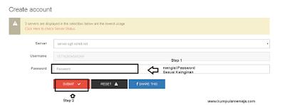Mengisi Password Akun SSH