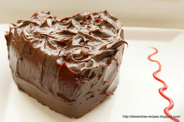 Moist Chocolate Cake Recipes Uk: Aleksandra's Recipes: VALENTINE'S HEART (MOIST CHOCOLATE CAKE