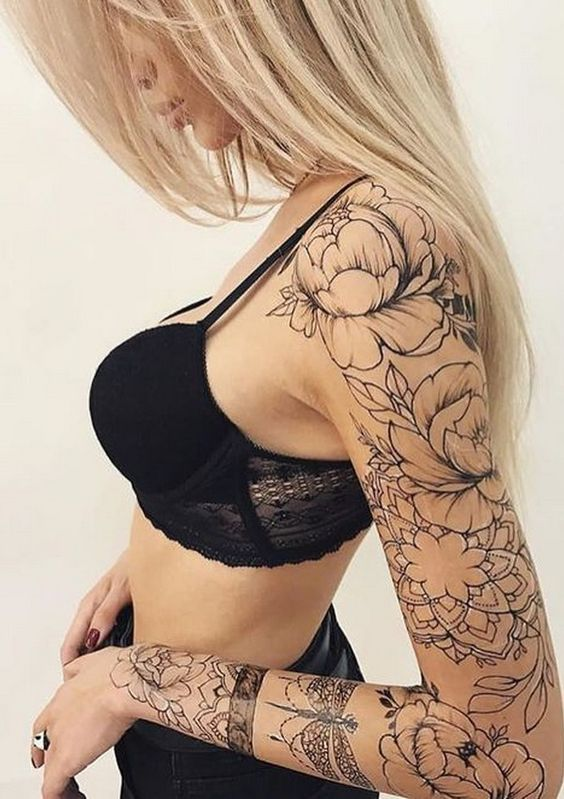 15 Beautiful Sleeve Tattoos For Women
