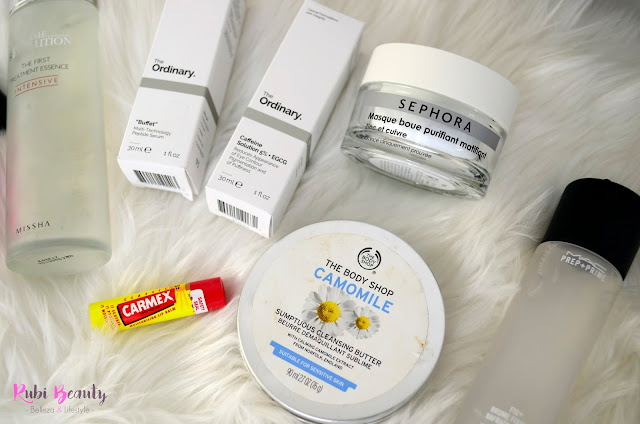 rubibeauty favoritos cosmetica 2017 rutina cuidado facial carmex the ordinary missha