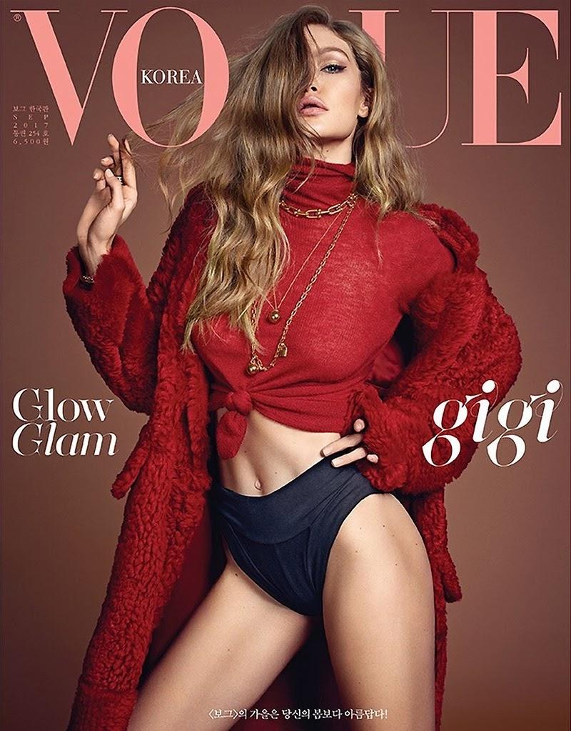 Gigi Hadid on Vogue Korea: Vogue's sexy Gigi Hadid of the Korean version