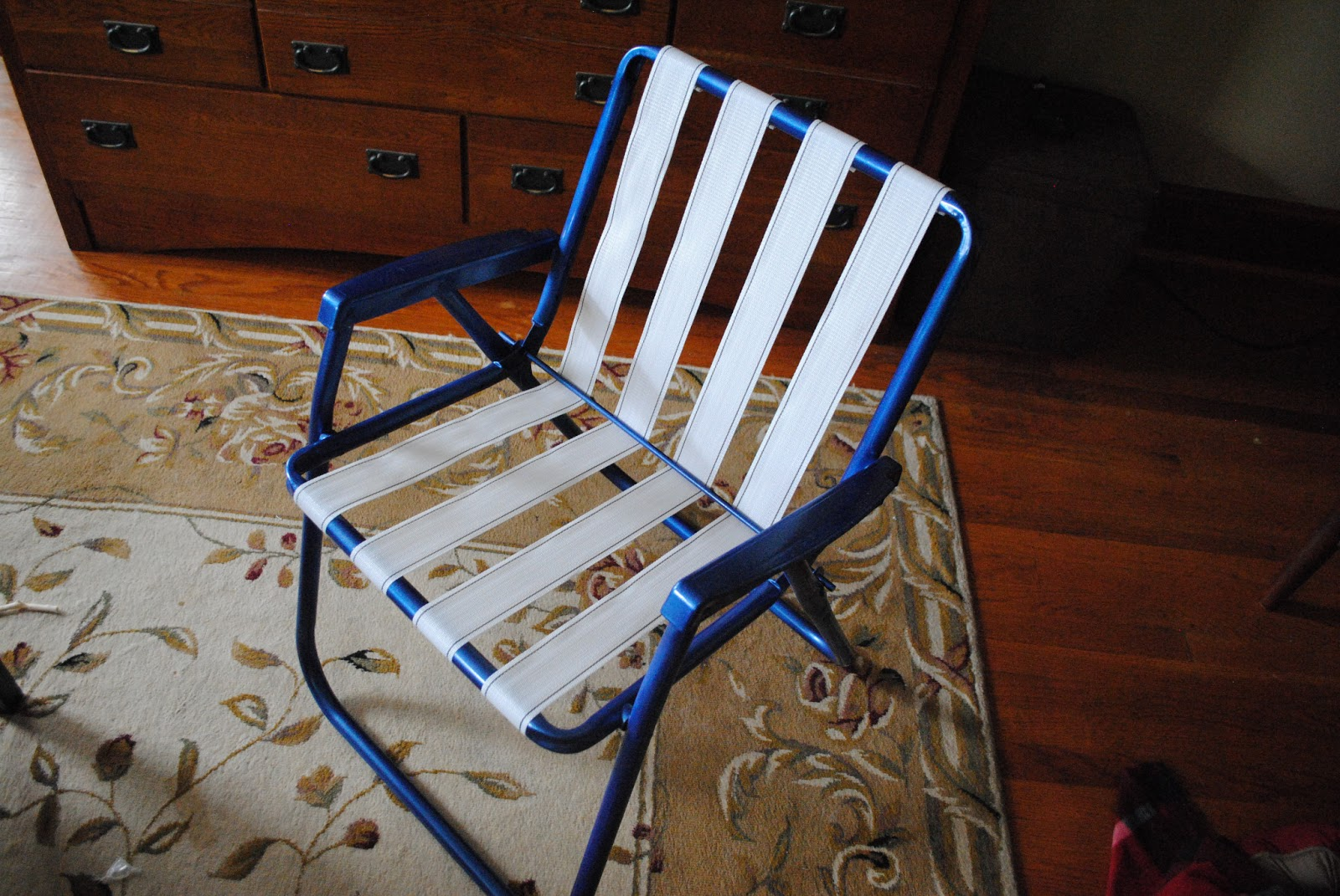 Rewebbing A Chair Reclining Beach Chairs Uk One Day At Time Lawn Makeover