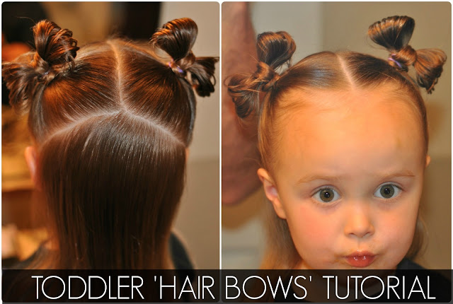 Hair Bow Styles: TODDLER 'HAIR BOWS' TUTORIAL