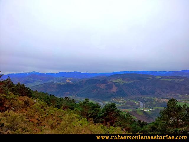 Rutas Montaña Asturias: Desde el Pico Pedroso, vistas del Nalón y San Román
