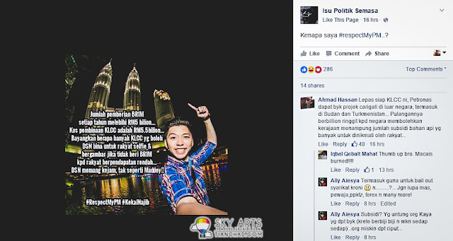 My photo being mis-used at another similar political FB Page - Isu Politic Semasa