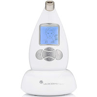 Microderm GLO Diamond Microdermabrasion System by Nuvederm Facial Treatment Machine, combines exfoliation and suction power to remove outer layer of skin and vacuum away dead skin cells. Helps to reduce wrinkles, blemishes, dark spots. Minimizes pore size. For smoother skin & improved radiance.