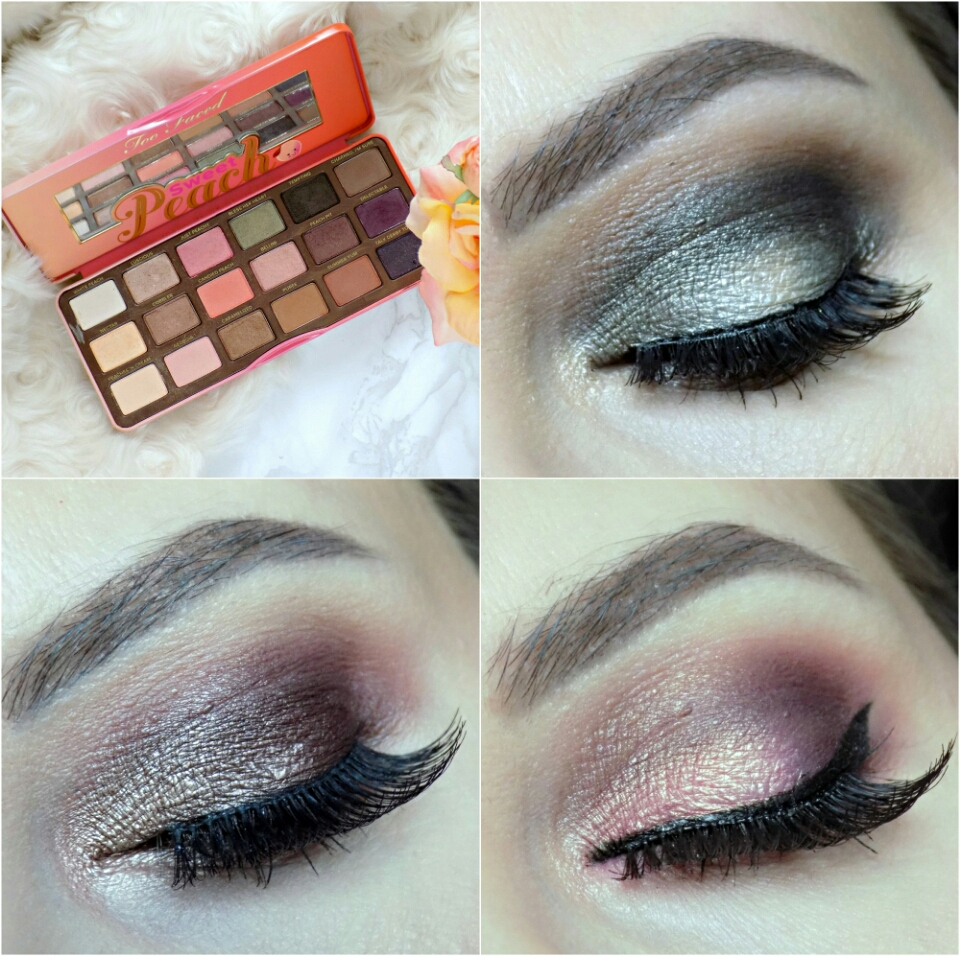 1 palette - 3 eye looks, Too Faced Sweet Peach palette