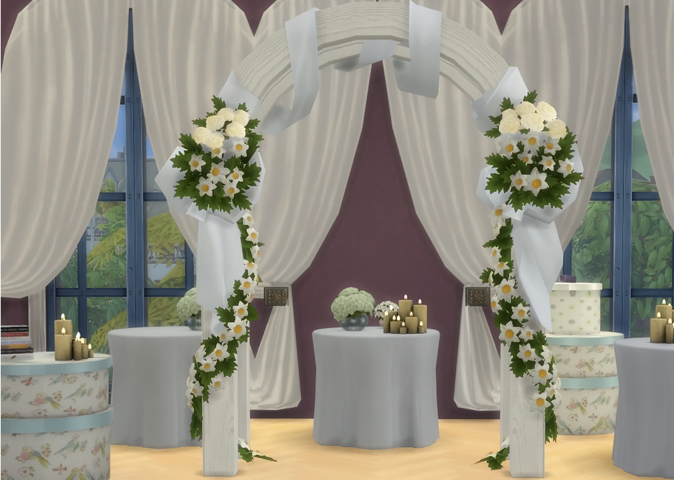 My Sims 4 Blog: Wedding Arches, Wine Bottles, Beds And