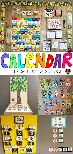Calendar Time Kindergarten Ideas : Setting up your preschool calendar area for success