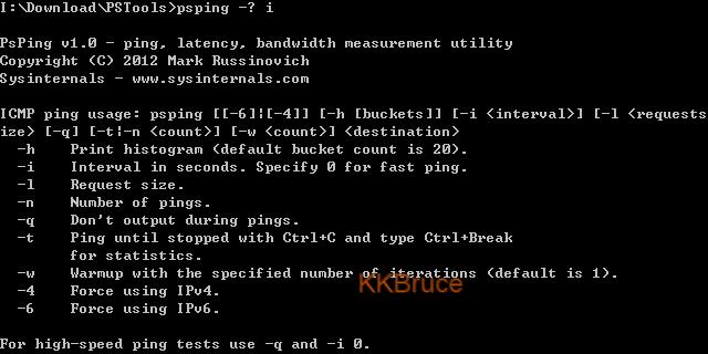 KingKong Bruce記事: 免費IP,ICMP,TCP及頻寬測試的好工具PsPing