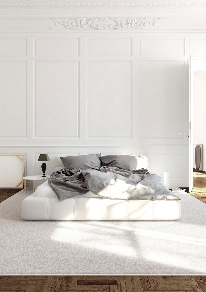 white-paneled-bedroom-wall