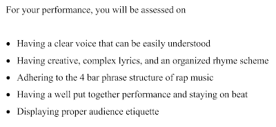 Rap Songwriting Assessment Criteria