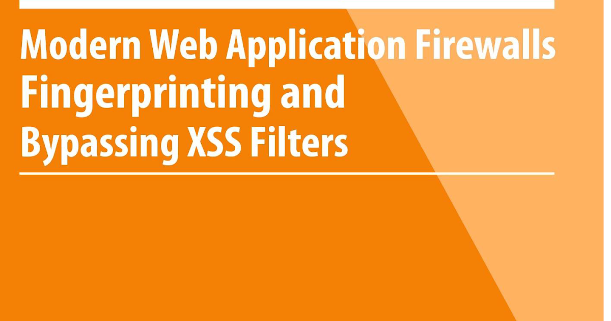 Bypassing Modern WAF's XSS Filters - Cheat Sheet | Miscellaneous