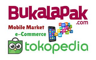 Darimana saja penghasilan Situs ecommerce mobile market seperti Tokopedia dan Bukalapak?
