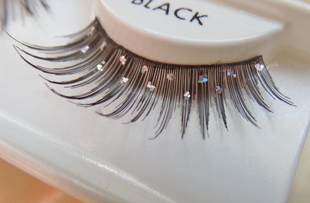 glitter strip lashes