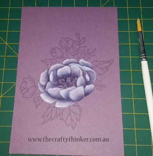 SU, Birthday Blooms, monocrhome, monochromatic watercolouring, handmade birthday card