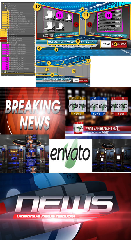 Download Projetos After Effects News Broadcast Pack