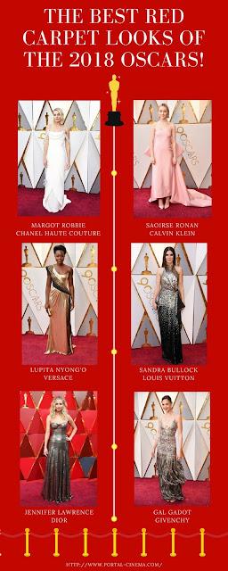 Os Melhores Looks da Red Carpet Dos Óscares 2018