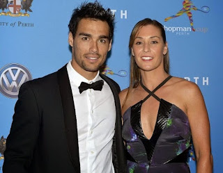 Fabio with his girlfriend Flavia