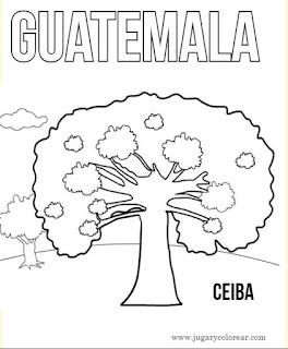Dibujo para colorear de Ceiba