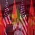 Diva Mỹ Linh hát live quốc ca cho tổng thống obama nghe