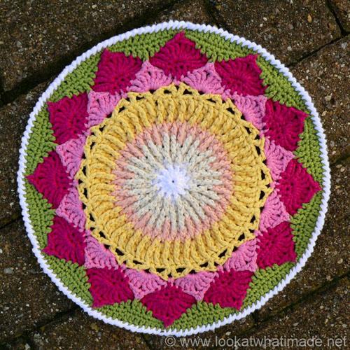 King Protea Mandala - Free Pattern