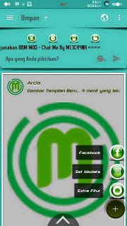 BBM MOD Chat Me Slow Green APK Terbaru