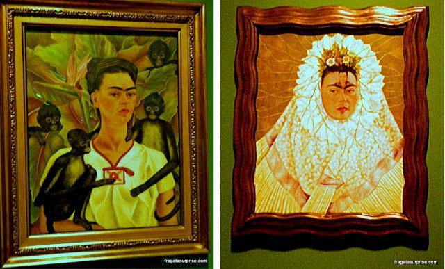 Autorretrato com Macacos (1943) e Autorretrato como Tehuana ou Diego em Meu Pensamento