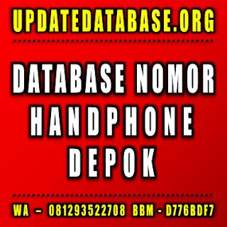 Jual Database Nomor Handphone Depok