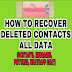 HOW TO RECOVER DELETED CONTACTS FROM ANDROID