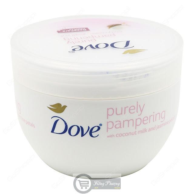 Kem dưỡng thể dưỡng ẩm Dove Purely Pampering chiết xuất từ dầu dừa và hoa nhài
