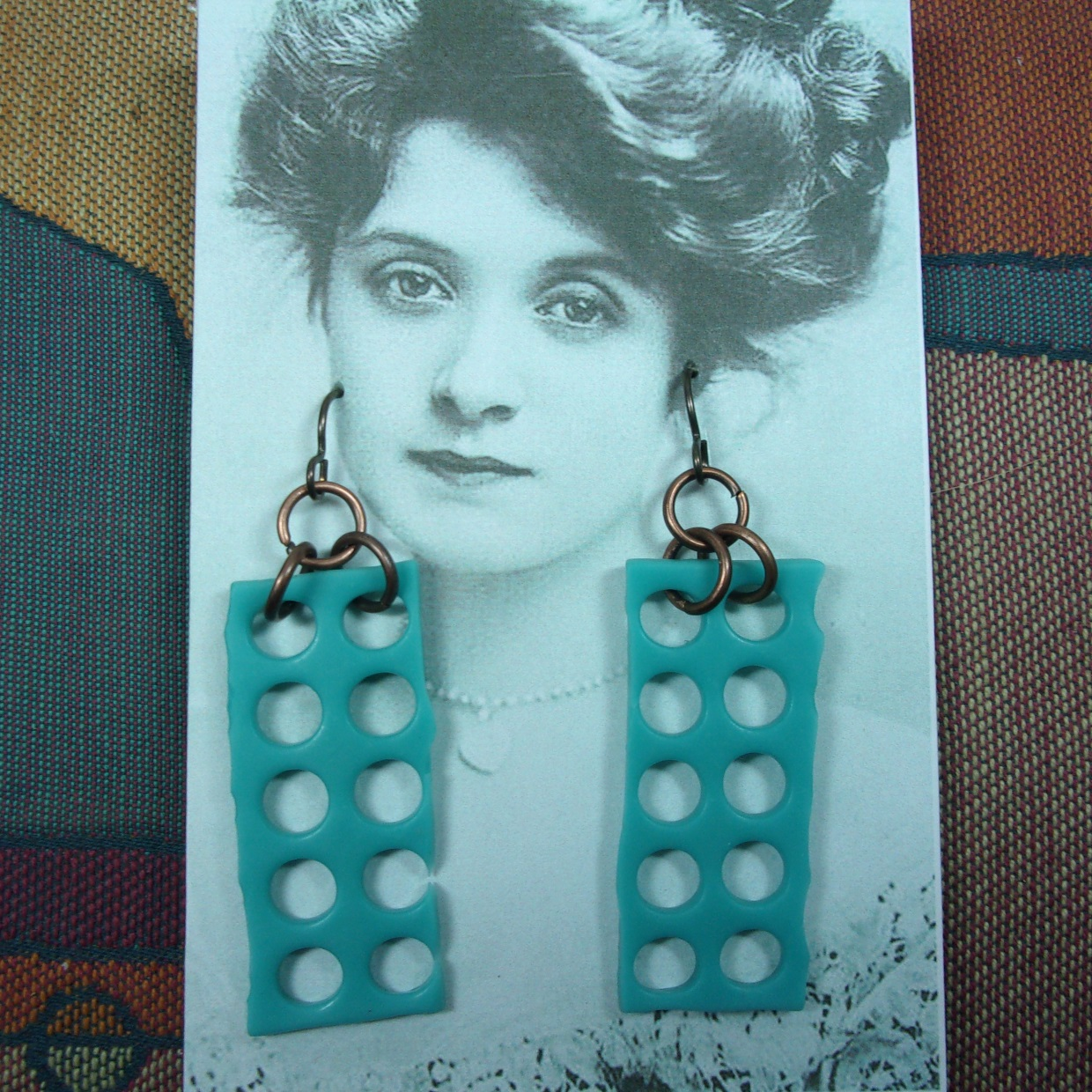 Blue Cheese Earrings