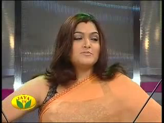 Glam Gallery Kushboo Hot In Transparent Saree
