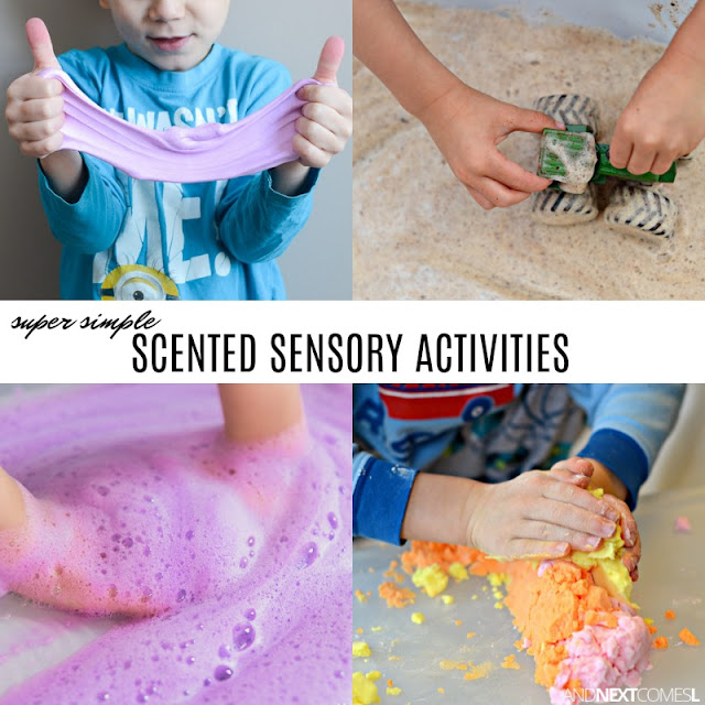 Scented sensory bins for kids