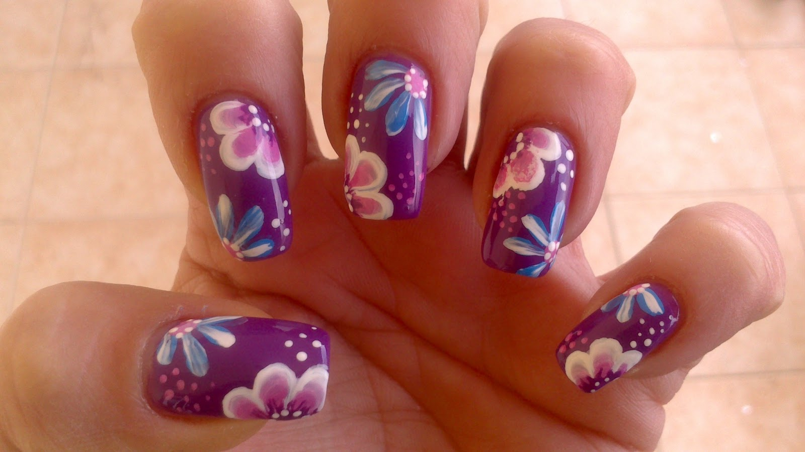 Lnetsa S Nailart One Stroke Spring Flowers