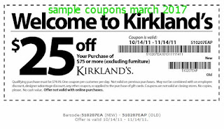 Kirklands coupons march 2017