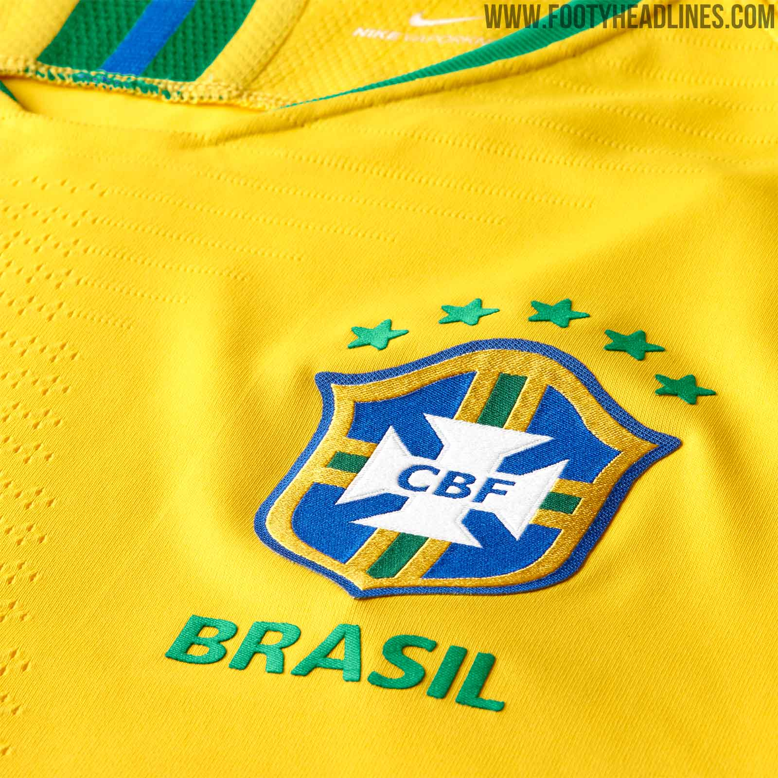 brazil 2018 world cup home kit released footy headlines