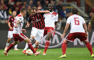 UEFA Champions League: Watch Olympiacos vs Milan live Stream Today 13/12/2018 online