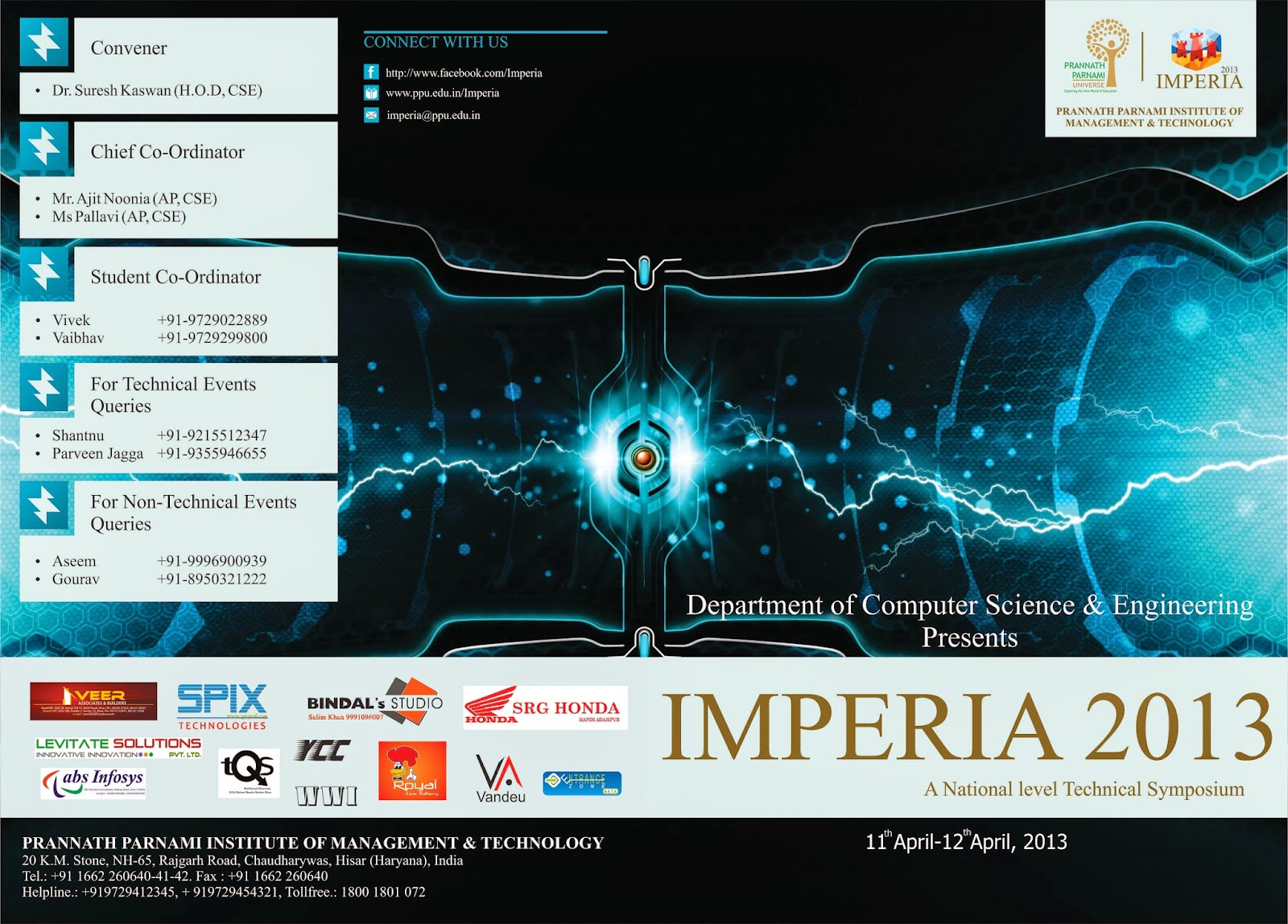 Poster Design For College Tech Fest Imperia