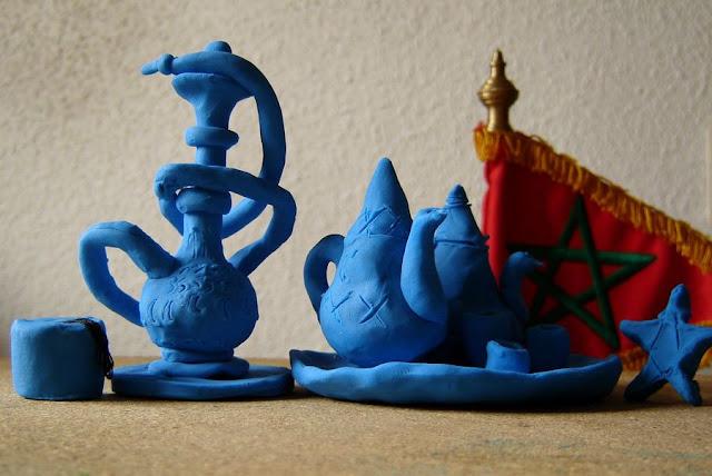 W marokańskim stylu na niebiesko #1 – plastelina