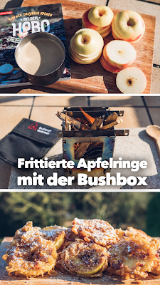Outdoor Kitchen 08 | Frittierte Apfelringe mit der Bushbox LF Titan | Hobo-Kochbuch | Trekking-Rezepte | Best-Mountain-Artists