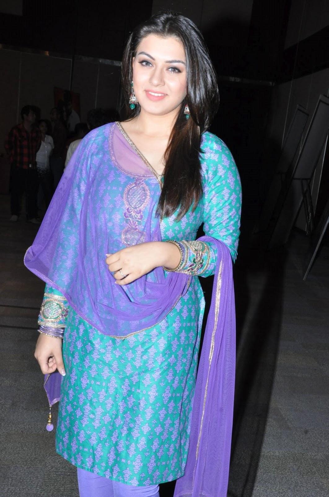 Actress Hansika Hot Stills In Churidar