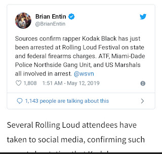 Kodak Black Reportedly Arrested At Rolling Loud Miami On Firearms Charges