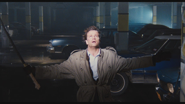Highlander Christopher Lambert Connor MacLeod underground parking fight