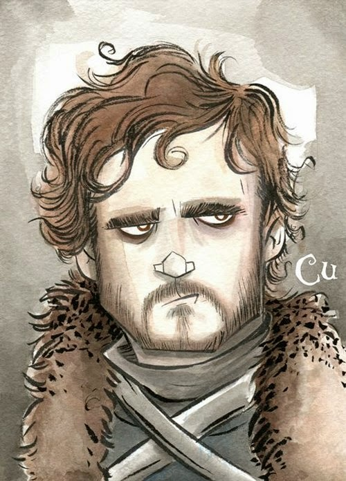11-Game-of-Thrones-Robb-Stark-Chris-Uminga-Game-of-Thrones-Watercolours-www-designstack-co
