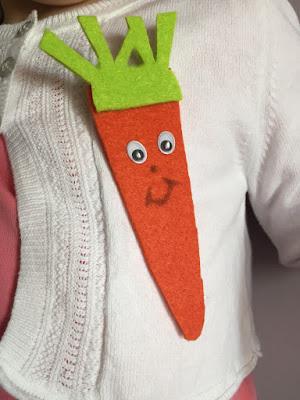 carotte en feutrine