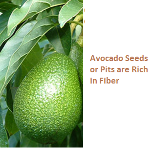 Avocado Seeds or Pits are Rich in Fiber