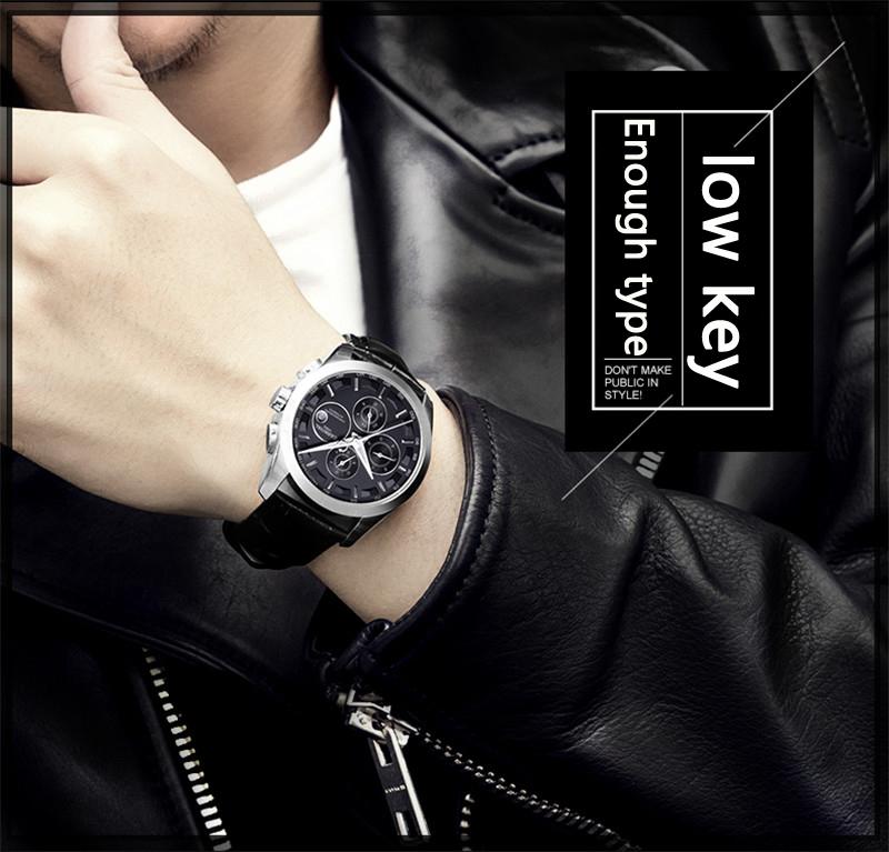 đồng hồ nam tốt màu đen